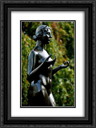 Nymph (central figure for The Three Nymphs) 18x24 Black or Gold Ornate Framed and Double Matted Art Print by Aristide Maillol