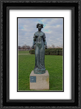 Pomone drapee 18x24 Black or Gold Ornate Framed and Double Matted Art Print by Aristide Maillol