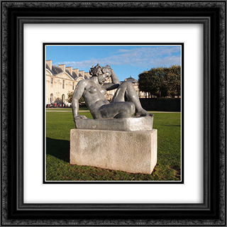 The Mountain 20x20 Black or Gold Ornate Framed and Double Matted Art Print by Aristide Maillol