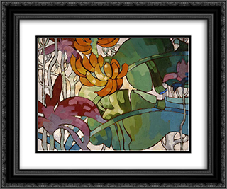 Hawaiian flowers 24x20 Black or Gold Ornate Framed and Double Matted Art Print by Arman Manookian