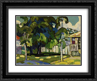 Landscape 24x20 Black or Gold Ornate Framed and Double Matted Art Print by Arman Manookian