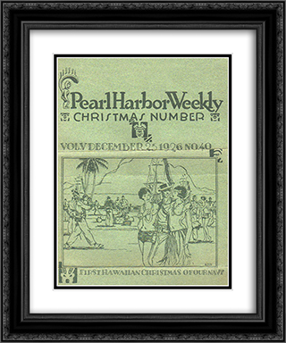 Manookian's cover for 'Pearl Harbor Weekly', December 1926 20x24 Black or Gold Ornate Framed and Double Matted Art Print by Arman Manookian