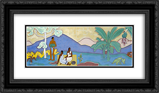Mural 24x14 Black or Gold Ornate Framed and Double Matted Art Print by Arman Manookian