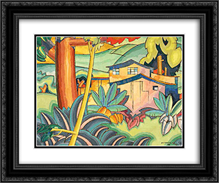 Old Kahala Home 24x20 Black or Gold Ornate Framed and Double Matted Art Print by Arman Manookian