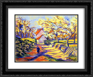 a la campagne 24x20 Black or Gold Ornate Framed and Double Matted Art Print by Armand Guillaumin