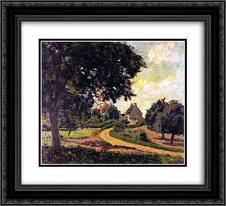Apres la pluie 22x20 Black or Gold Ornate Framed and Double Matted Art Print by Armand Guillaumin