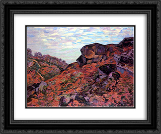 Crozant, les Monts Sedelle, matin 24x20 Black or Gold Ornate Framed and Double Matted Art Print by Armand Guillaumin
