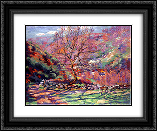 Crozant, solitude 24x20 Black or Gold Ornate Framed and Double Matted Art Print by Armand Guillaumin