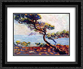 Dans le Midi 24x20 Black or Gold Ornate Framed and Double Matted Art Print by Armand Guillaumin