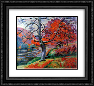 Echo Rock 22x20 Black or Gold Ornate Framed and Double Matted Art Print by Armand Guillaumin