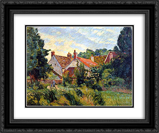 Epinay-sur-Orge 24x20 Black or Gold Ornate Framed and Double Matted Art Print by Armand Guillaumin
