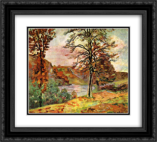 Landscape 22x20 Black or Gold Ornate Framed and Double Matted Art Print by Armand Guillaumin