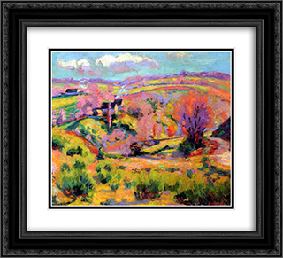 Landscape of Creuse at spring 22x20 Black or Gold Ornate Framed and Double Matted Art Print by Armand Guillaumin