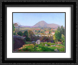 Landscape of Puy de Dome 24x20 Black or Gold Ornate Framed and Double Matted Art Print by Armand Guillaumin