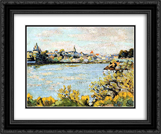 Le Pornic 24x20 Black or Gold Ornate Framed and Double Matted Art Print by Armand Guillaumin