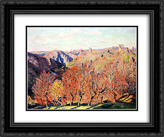 Les Ruines a Crozant 24x20 Black or Gold Ornate Framed and Double Matted Art Print by Armand Guillaumin