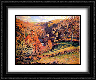 Madness Ravine, Crozant 24x20 Black or Gold Ornate Framed and Double Matted Art Print by Armand Guillaumin