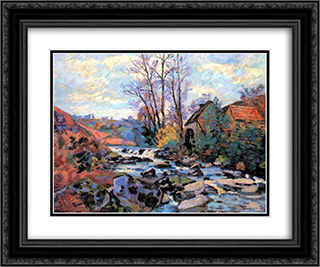 Moulin Bouchardon, Crozant 24x20 Black or Gold Ornate Framed and Double Matted Art Print by Armand Guillaumin