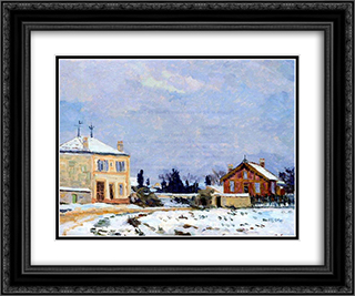 Neige 24x20 Black or Gold Ornate Framed and Double Matted Art Print by Armand Guillaumin