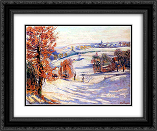Neige a Crozant 24x20 Black or Gold Ornate Framed and Double Matted Art Print by Armand Guillaumin