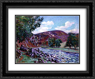 Paysage a Crozant 24x20 Black or Gold Ornate Framed and Double Matted Art Print by Armand Guillaumin