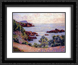 Paysage du Midi 24x20 Black or Gold Ornate Framed and Double Matted Art Print by Armand Guillaumin