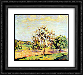 Pommiers en fleurs 22x20 Black or Gold Ornate Framed and Double Matted Art Print by Armand Guillaumin