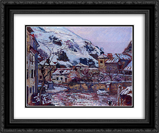 Saint-Julien-des-Chazes 24x20 Black or Gold Ornate Framed and Double Matted Art Print by Armand Guillaumin
