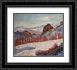 Saint-Sauves-d'Auvergne 22x20 Black or Gold Ornate Framed and Double Matted Art Print by Armand Guillaumin