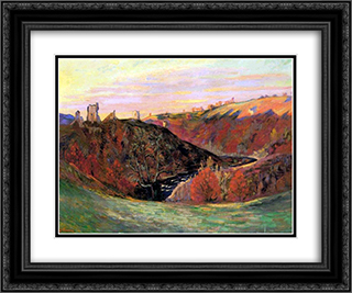 Sunset in Creuse 24x20 Black or Gold Ornate Framed and Double Matted Art Print by Armand Guillaumin