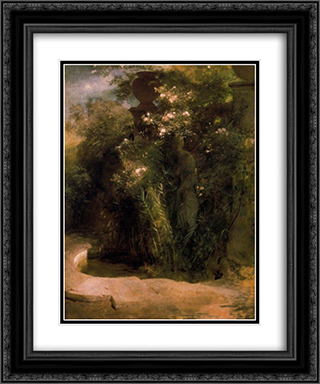 Abandoned Venus 20x24 Black or Gold Ornate Framed and Double Matted Art Print by Arnold Bocklin