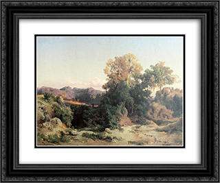 At Alban Hills 24x20 Black or Gold Ornate Framed and Double Matted Art Print by Arnold Bocklin