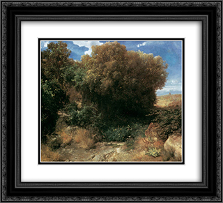 Campagna Landscape 22x20 Black or Gold Ornate Framed and Double Matted Art Print by Arnold Bocklin
