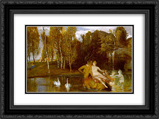 Elysian Fields 24x18 Black or Gold Ornate Framed and Double Matted Art Print by Arnold Bocklin
