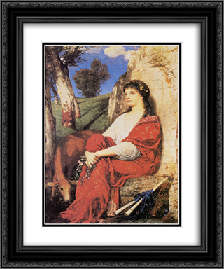 Euterpe 20x24 Black or Gold Ornate Framed and Double Matted Art Print by Arnold Bocklin
