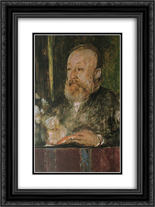 Gottfried Keller 18x24 Black or Gold Ornate Framed and Double Matted Art Print by Arnold Bocklin