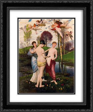 Hymn to spring 20x24 Black or Gold Ornate Framed and Double Matted Art Print by Arnold Bocklin