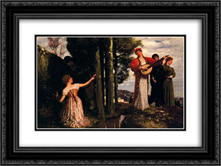 Look any laughs to the plains 24x18 Black or Gold Ornate Framed and Double Matted Art Print by Arnold Bocklin