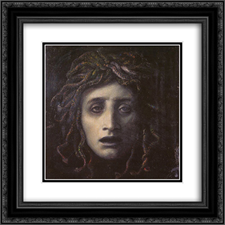 Medusa 20x20 Black or Gold Ornate Framed and Double Matted Art Print by Arnold Bocklin