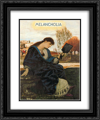 Melancholia 20x24 Black or Gold Ornate Framed and Double Matted Art Print by Arnold Bocklin
