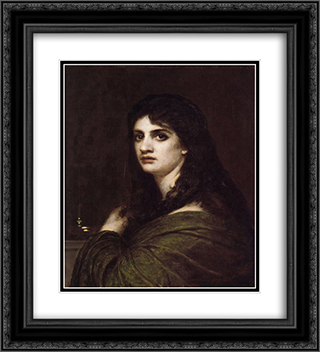 Melancholy 20x22 Black or Gold Ornate Framed and Double Matted Art Print by Arnold Bocklin