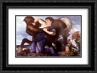 Nessus and Deianeira 24x18 Black or Gold Ornate Framed and Double Matted Art Print by Arnold Bocklin