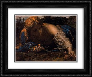 Nymph 24x20 Black or Gold Ornate Framed and Double Matted Art Print by Arnold Bocklin