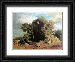 On the Pontine swamps 24x20 Black or Gold Ornate Framed and Double Matted Art Print by Arnold Bocklin