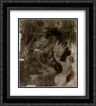 Pan chasing a Nymph 20x22 Black or Gold Ornate Framed and Double Matted Art Print by Arnold Bocklin