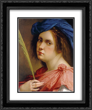 Self-portrait as a Female Martyr 20x24 Black or Gold Ornate Framed and Double Matted Art Print by Artemisia Gentileschi