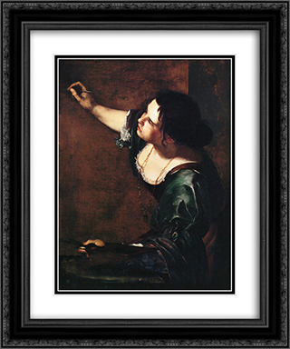 Self-portrait as the Allegory of Painting 20x24 Black or Gold Ornate Framed and Double Matted Art Print by Artemisia Gentileschi