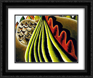 Fields of Grain as Seen from Train 24x20 Black or Gold Ornate Framed and Double Matted Art Print by Arthur Dove