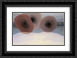 Foghorns 24x18 Black or Gold Ornate Framed and Double Matted Art Print by Arthur Dove