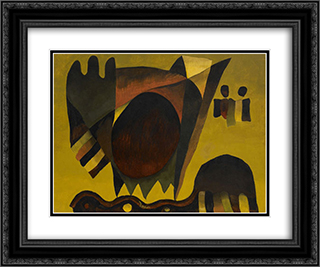 Indian Summer 24x20 Black or Gold Ornate Framed and Double Matted Art Print by Arthur Dove